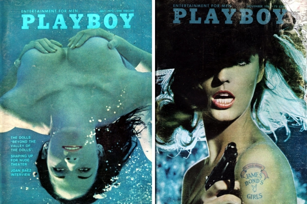 Playboy vintage covers vrouwen naakt pistool go with the vlo