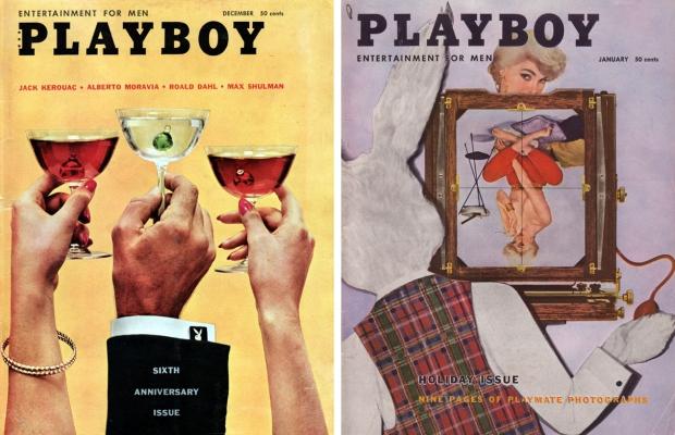 Playboy vintage glazen retro tijdschriften go with the vlo bunny