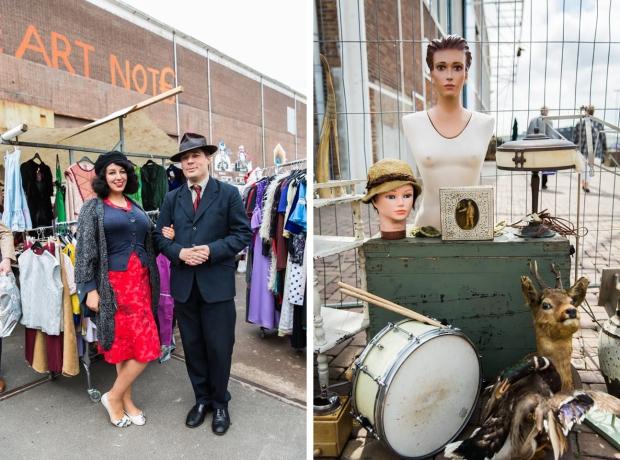 Rommelmarkt IJHallen Amsterdam vintage go with the vlo