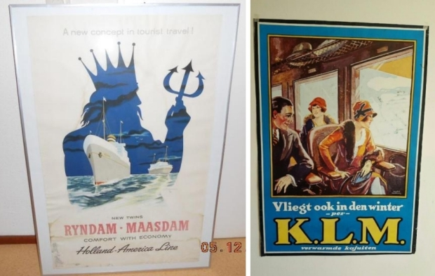 Vintage reisposters Marktplaats go with the vlo Holland Amerika Lijn KLM