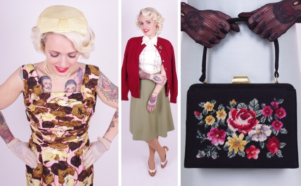 Bobby Pin Boutique Carol mode fifties tas go with the vlo