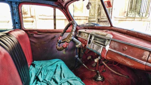 Cuba oldtimer stuur go with the vlo