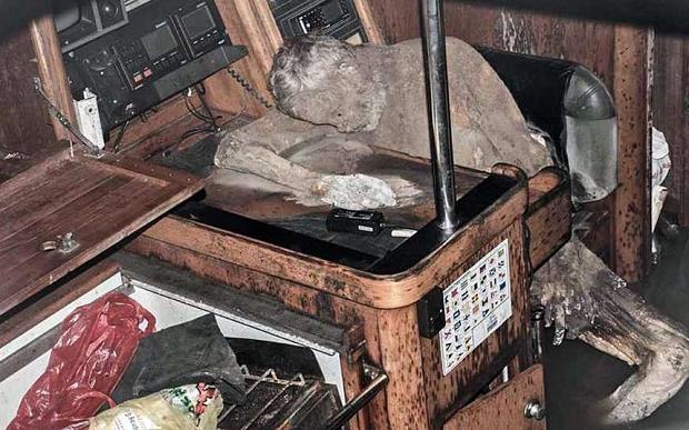 Mummie schip Duitser Manfred Bajorat go with the vlo