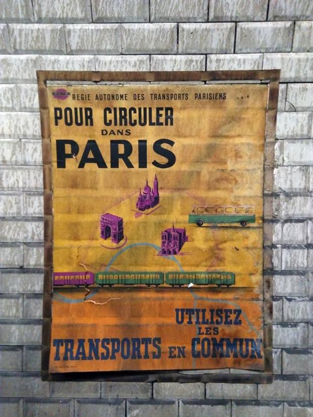 Parijs metro poster go with the vlo 12