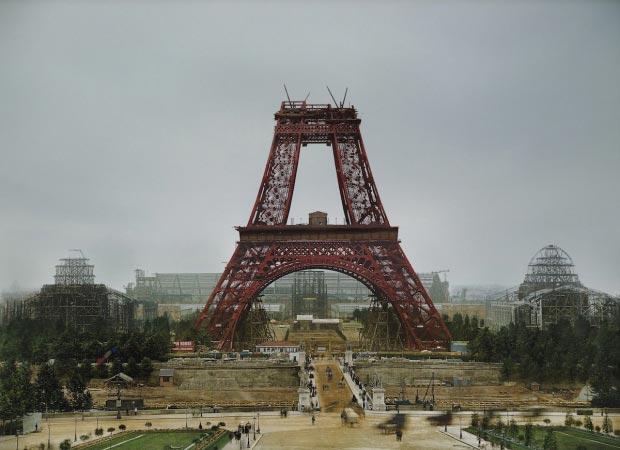 Eiffeltoren bouw kleur go with the vlo