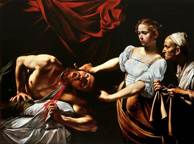 Judith onthoofdt Holofernes Caravaggio go with the vlo