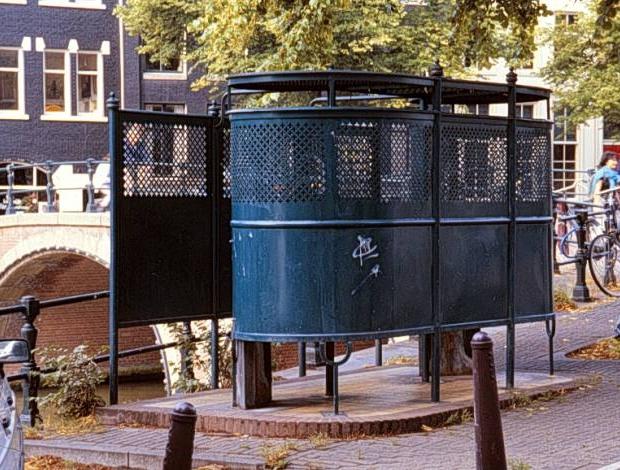 Krul urinoir Amsterdam go with the vlo