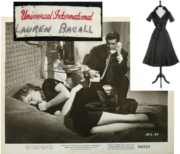 Lauren Bacall veiling jurk go with the vlo