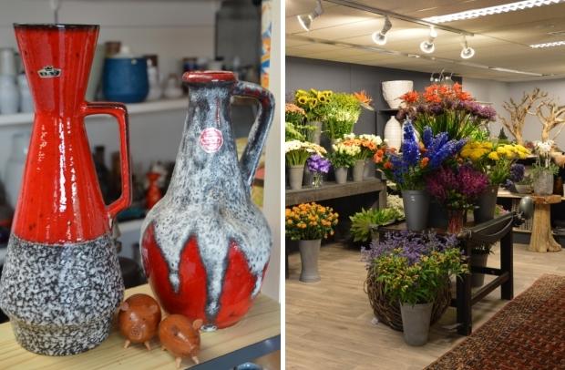 Retro vazen West-Germany bloemen go with the vlo