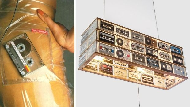 Cassettebandjes lamp retro go with the vlo