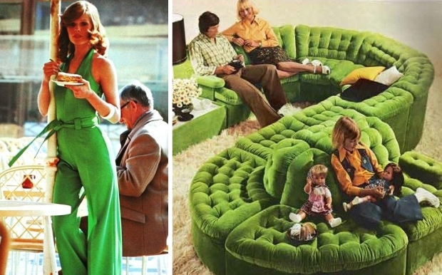 Groen seventies bank mode go with the vlo