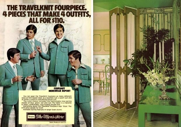 Groen seventies kleding hal go with the vlo