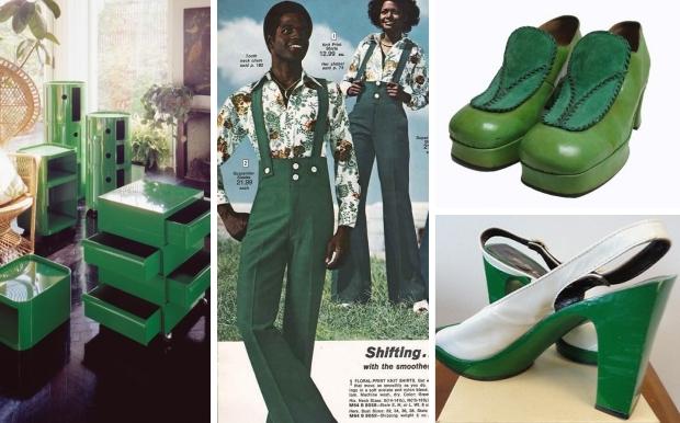 Groen seventies schoenen mode go with the vlo