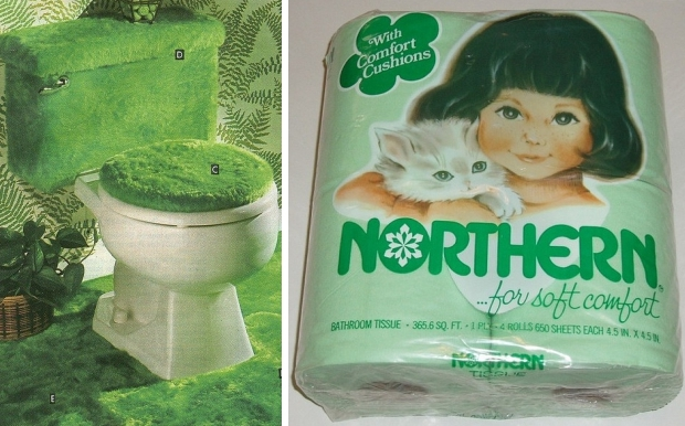 Groen seventies toilet go with the vlo