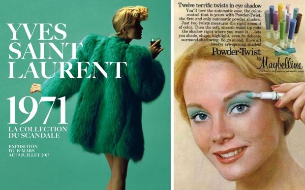 Seventies groen Yves Saint Laurent go with the vlo