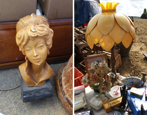 Temploux brocante beeld lamp go with the vlo