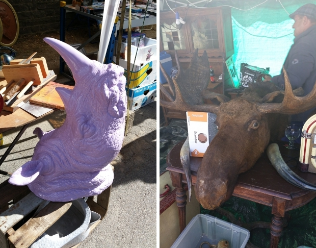 Temploux brocante dieren nep go with the vlo