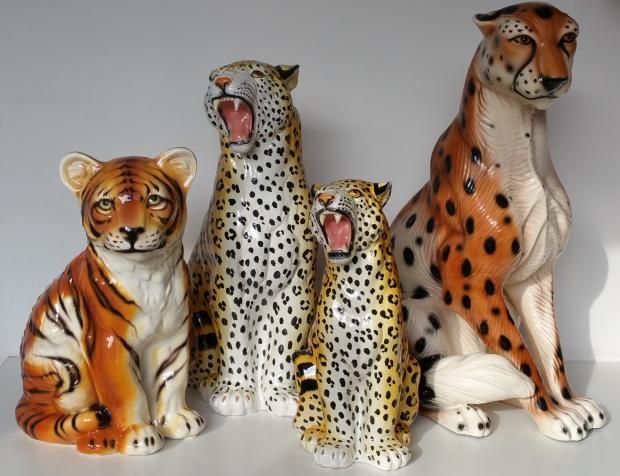 Tijger luipaard beeld vintage woonzonden go with the vlo