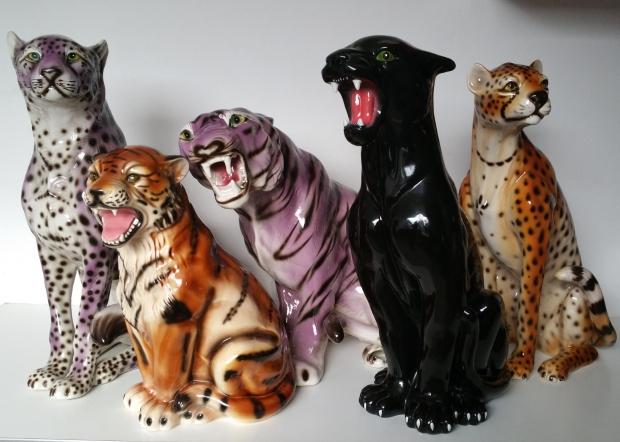 Tijger luipaard cheetah beeld vintage woonzonden go with the vlo
