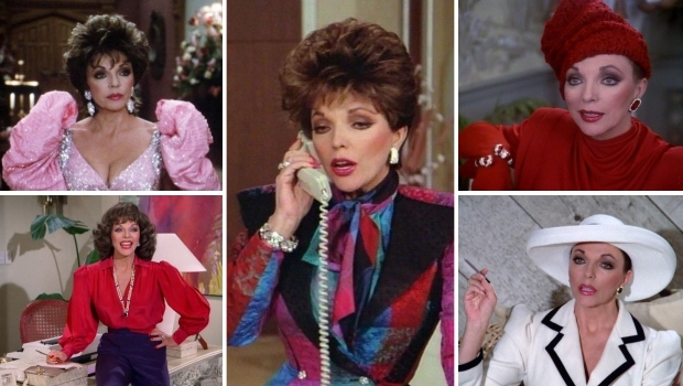 Alexis Carrington Colby Dexter mode eighties Dynasty go with the vlo