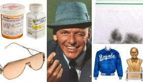 Bieden op het haar en de pillen van Frank Sinatra