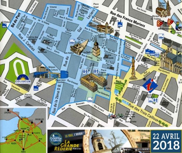 Grande Rederie Amiens vlooienmarkt plattegrond go with the vlo