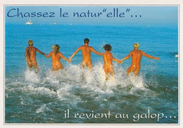 Sexy ansichtkaart naakt Frankrijk go with the vlo