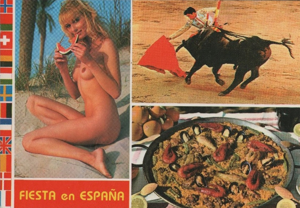 Sexy ansichtkaart Spanje jaren zeventig go with the vlo