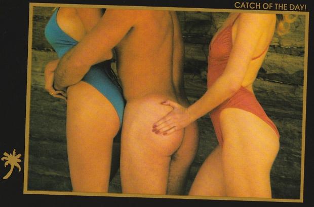 Sexy ansichtkaart vangst van de dag go with the vlo