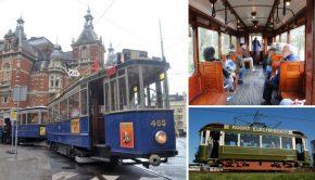 Red de historische trams van Amsterdam!