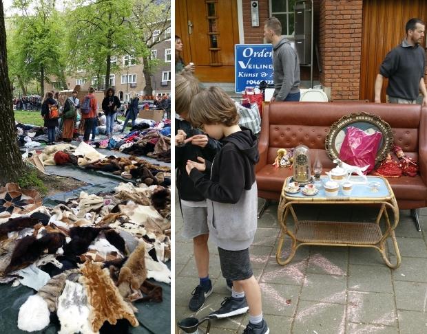 Vrijmarkt Oud-Zuid dierenvellen Apollolaan go with the vlo