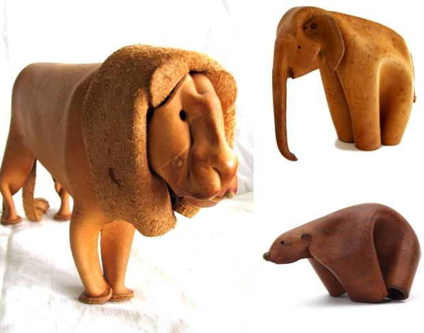 Deru Duitsland leeuw beer olifant leer dieren go with the vlo