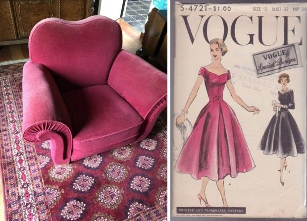 Roze clubfauteuil jaren vijftig 2dehands.be go with the vlo