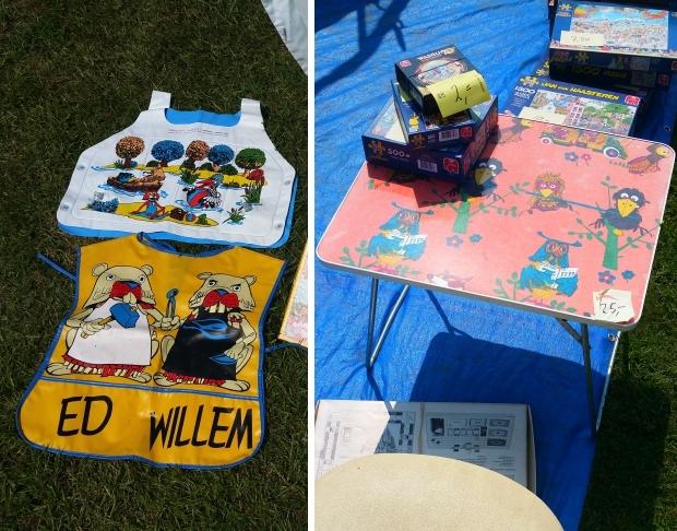 Fabeltjeskrant tafel Flinke Flea Market Hemelum rommelmarkt go with the vlo