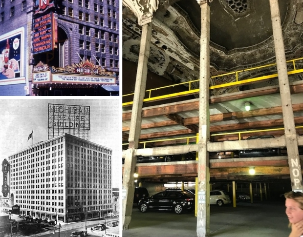 Michigan Theatre parkeergarage Detroit go with the vlo