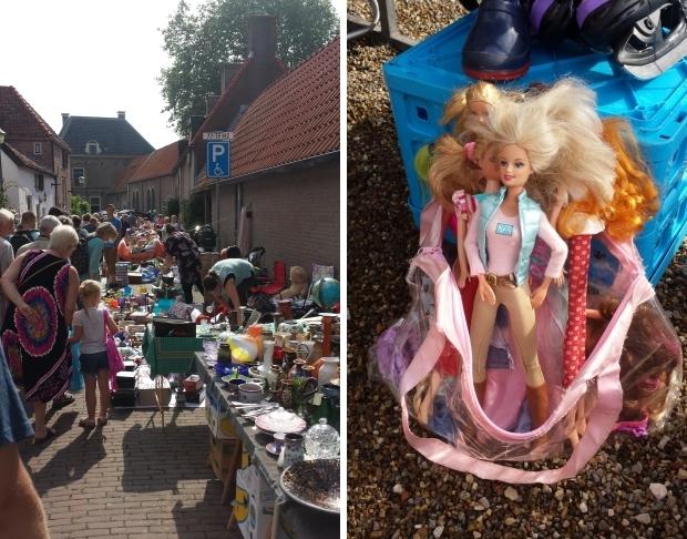 Vlooienmarkt rommelmarkt Hattem Veluwe Barbie go with the vlo 2