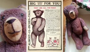 Gratis vintage teddybeer Free Vlo go with the vlo