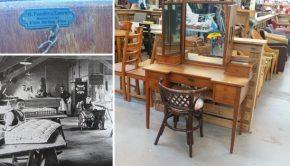 Kaptafel H. Pander en Zonen meubelfabriek Kringloop Zwolle go with the vlo