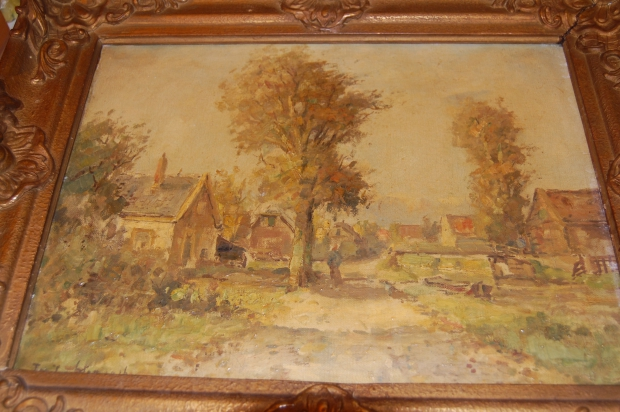 Mill Hill College Derdewereldrommelmarkt schilderij go with the vlo