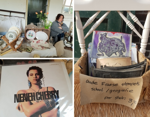 Broc' à maman et fille brocantemarkt Heusden Neneh Cherry go with the vlo