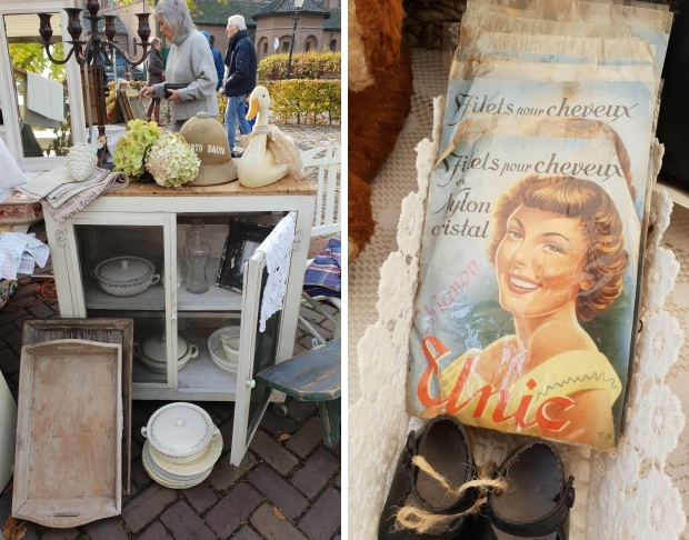 Brocantemarkt Heusden antiek keukenkastje go with the vlo