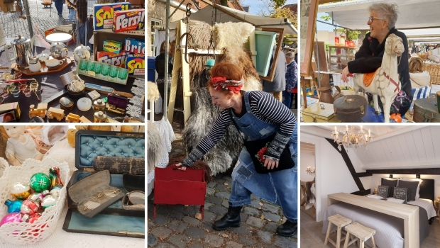 Brocantemarkt Heusden bed and breakfast Bed&Brood&Zo go with the vlo