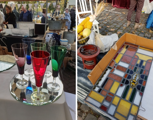 Brocantemarkt Heusden glas in lood go with the vlo