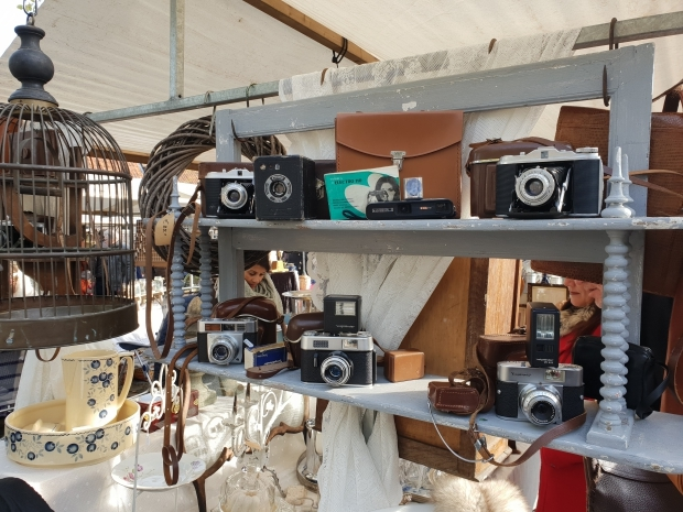 Brocantemarkt Heusden vintage fototoestellen go with the vlo 2