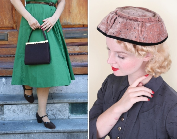 Groene vintage tas Noortje Laan Bobby Pin Boutique go with the vlo