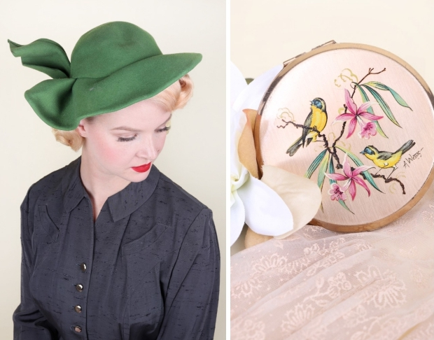 Noortje Laan Bobby Pin Boutique groene vintage hoed go with the vlo