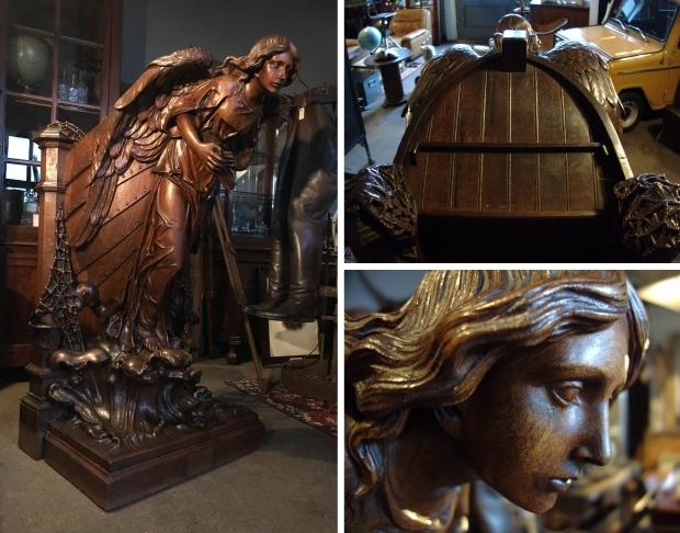 Preekstoel Vivre Interieur Authentique engel Normandië go with the vlo