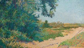 Schilderij kringloop pointillisme Johan Aarts go with the vlo 2