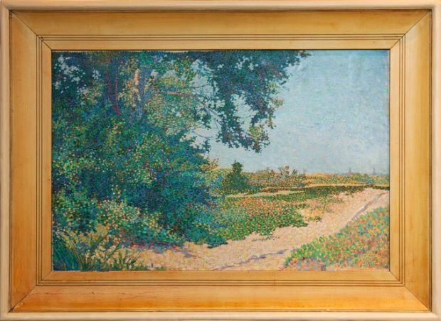 Schilderij kringloop pointillisme Johan Aarts go with the vlo