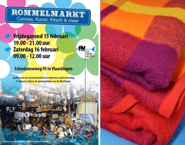 Rommelmarkt De Windwijzer Vlaardingen vintage dekens go with the vlo